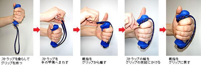NISHI e3グリップ 持ち方
